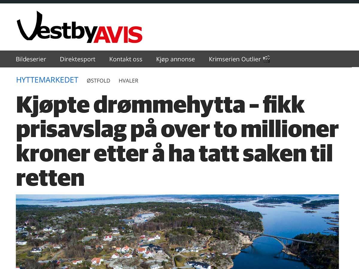 Saken ble også omtalt i Vestby Avis